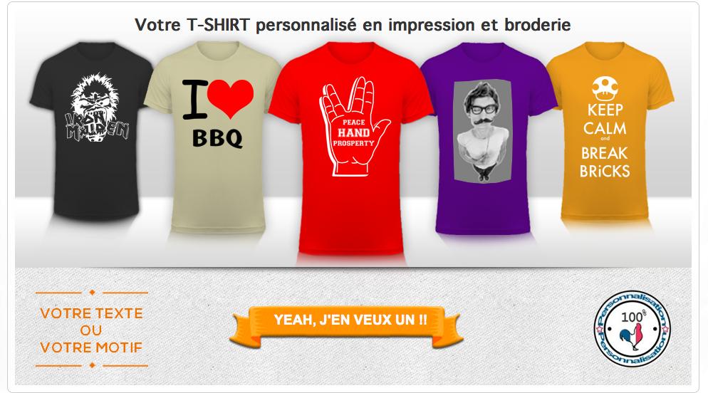 Un tee-shirt personnalisé Tunetoo