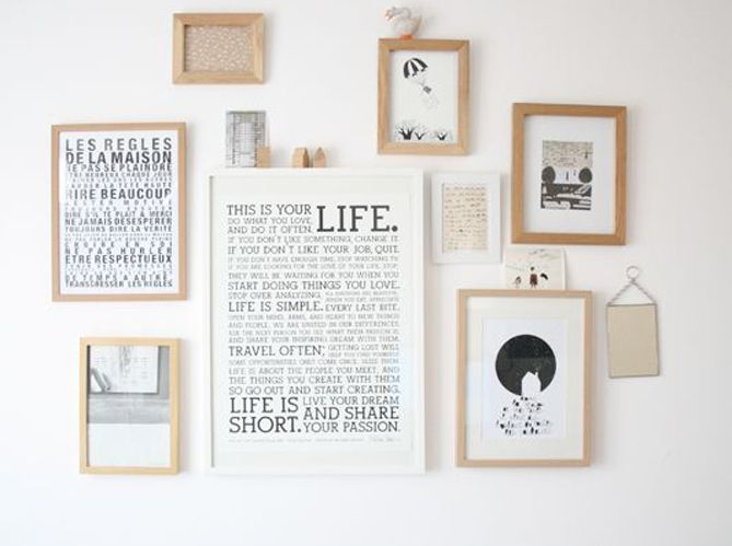 D co redonner vie un mur blanc le mag lire - Deco cadre photo mur ...