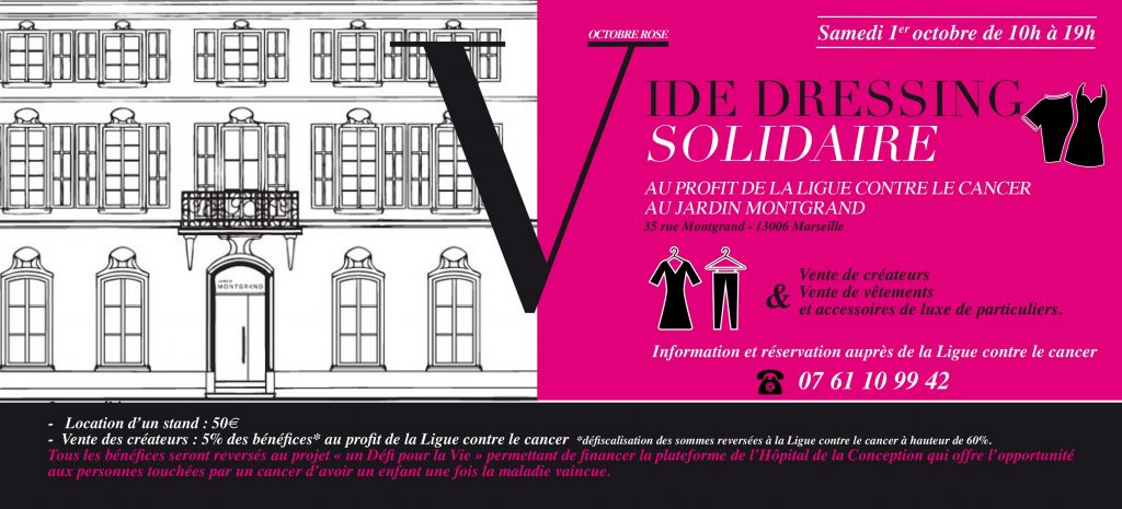 vide-dressing solidaire Jardin Montgrand blog lifestyle marseille