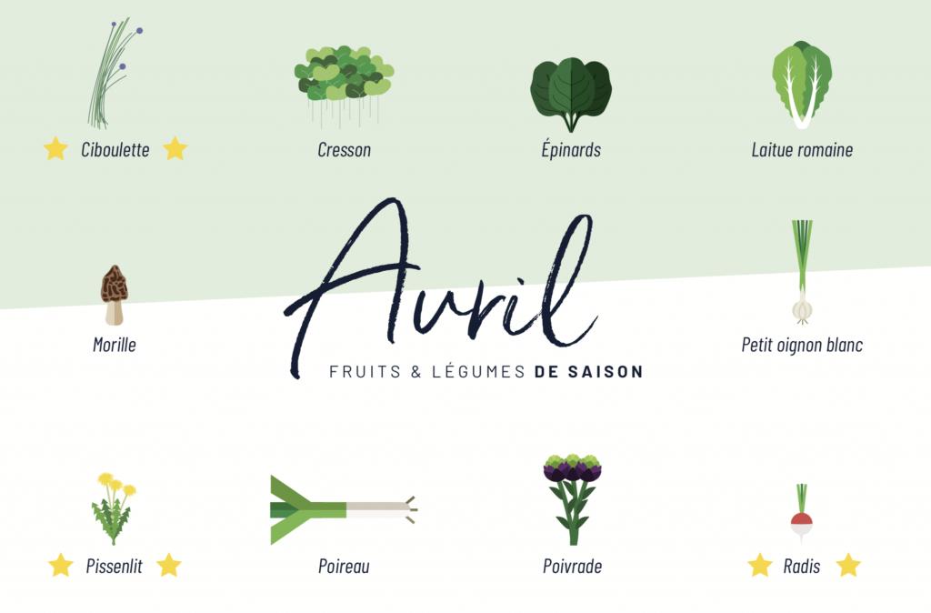 Calendrier Fruits et Légumes de saison LUCILE MENNESSIER
